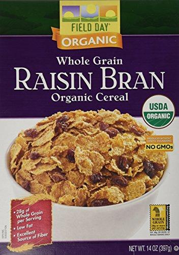 Field Day Whole Grain Raisin Bran Organic Cereal - 14 oz - Organic Raisin Bran Cereal
