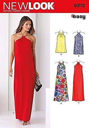 New Look Damen Schnittmuster 6372 Neckholder Kleider in 2 Styles und ...
