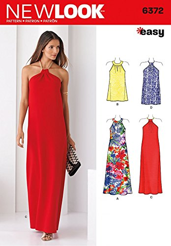 New Look Ladies Easy Sewing Pattern 6372 Halter Neck Dresses in 2 ...