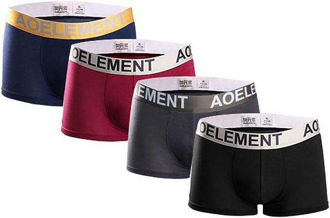 Bóxers Pack 4 Calzoncillos de Algodón para Hombre Pantalones ...
