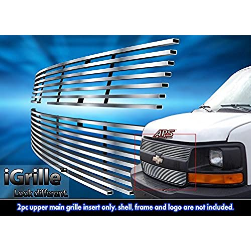 Stainless Steel EGrille Billet Grille Grill For 2003 2016 Chevy Express Explorer Conversion Van