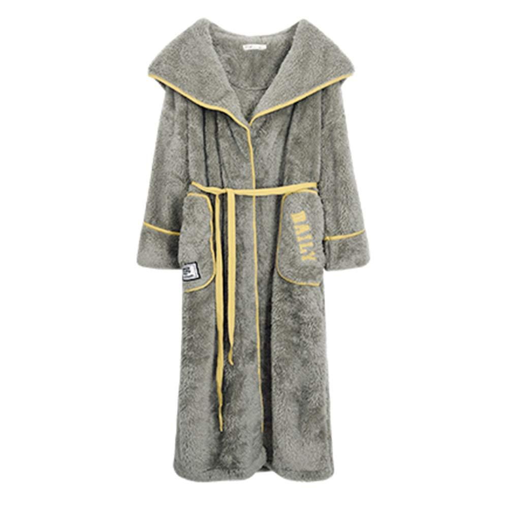 Bademantel NAN Liang Damen Winter 100% Baumwolle, Pyjamas, luxuriöse Luxus-Schlinge Bequem (größe : XXL)