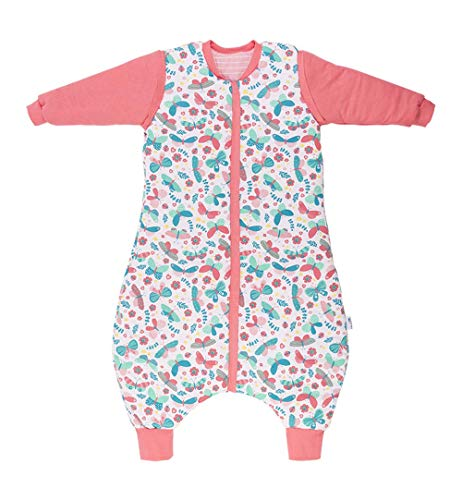 Slumbersac Reversible Sleeping Bag with Feet + Removable Long Sleeves 2.5 Tog AOP Butterfly 3-4/45 inches
