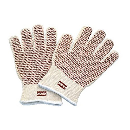 Hot Knit Mill (North by Honeywell 51/7147 Grip N Hot Mill Nitrile Coated Gloves, Fabric/Cotton, Natural, Men's-Medium (Pack of 12))