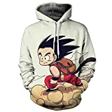 Yangxinyuan Unisex Hoodies Dragon Ball Z Goku 3D Print Pullover Sportswear Sweatshirt Tops (07, XL)