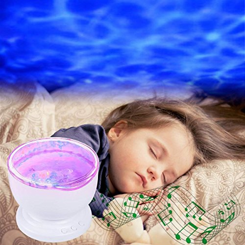 Ocean Wave Night Light, Elecstars-Music Player Multicolor Led bulbs Projection Lamp, Romance and Relax soothing Effect, Bedroom Room Night Light, Best Gift for Kids girl Children Sleeping Aid by Elecstars (Image #5)
