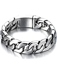 Top Quality Men's Stainless Steel Curb Chain Bracelet