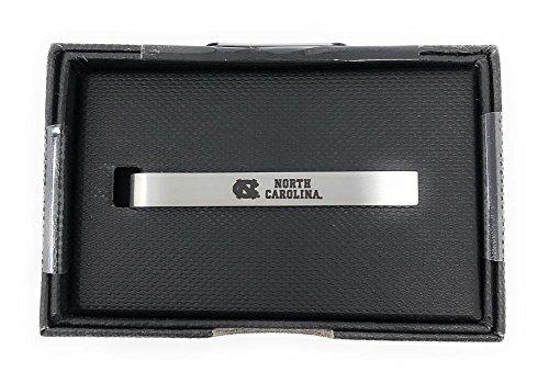 Laser Engraved Gifts North Carolina Tarheels UNC Tie Clip Silver Tie Bar Gift Set