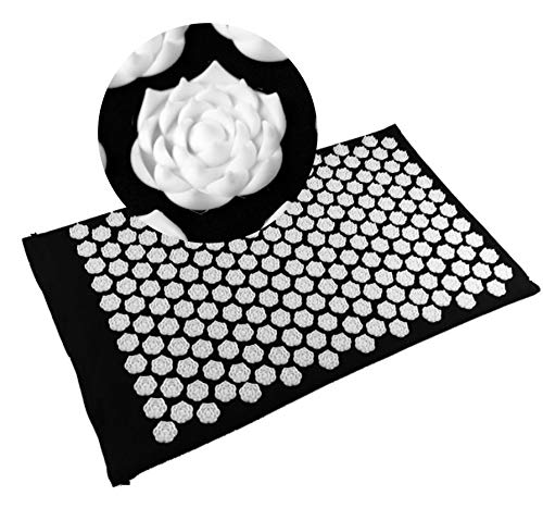 Massager Pillow Massage Cushion Acupressure Mat Relieve Stress-Acupressure Mat Pillow Set-Rose Shape...