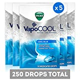 Vicks VapoCOOL Medicated Drops, Soothe Sore Throat Pain Caused by Cough, 250 Drops, 5 Packs of 50
