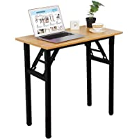 Need Small Desk 40cm Width Folding Desk No Assembly Required Sturdy and Heavy Duty Desk for Small Space and Laptop Desk…