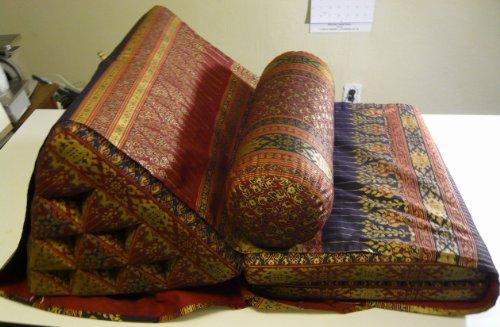 Thai Triangle Pillow Mornkwan Cushion Back Support Fold