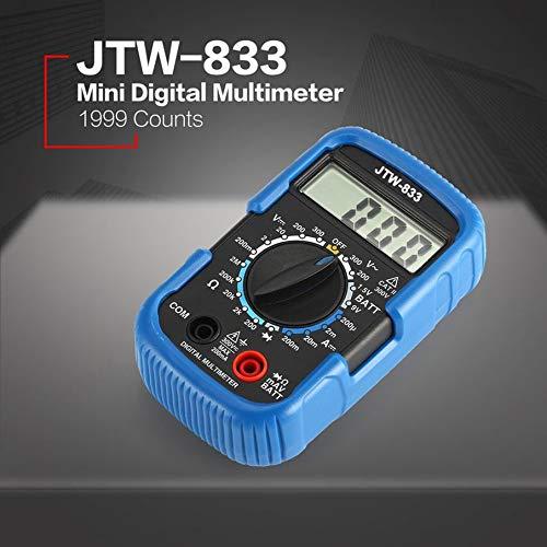 JTW-833 Mini Digital Multimeter AC//DC Volt Amp Ohm Diode Battery Tester