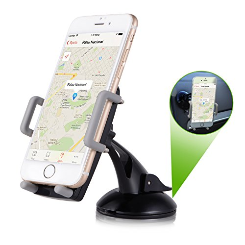Bestfy Universal Smartphones Car Mount Holder, Phone Dashboard Windshield Holder Compatible with iPhone 7 7Plus 6s 6 5s, Samsung Galaxy S7 Edge S6 S5, Nexus, LG, Sony Nokia and more (Black)