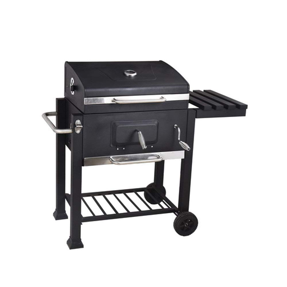 TangFeii Outdoor Patio for More Than 8 People, Large Barbecue Pit Charcoal Grill, Thickened with a Large Square Furnace