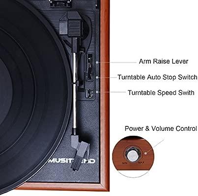 MUSITREND Tocadiscos 33/45/78 RPM, Maleta Portátil con 2 ...