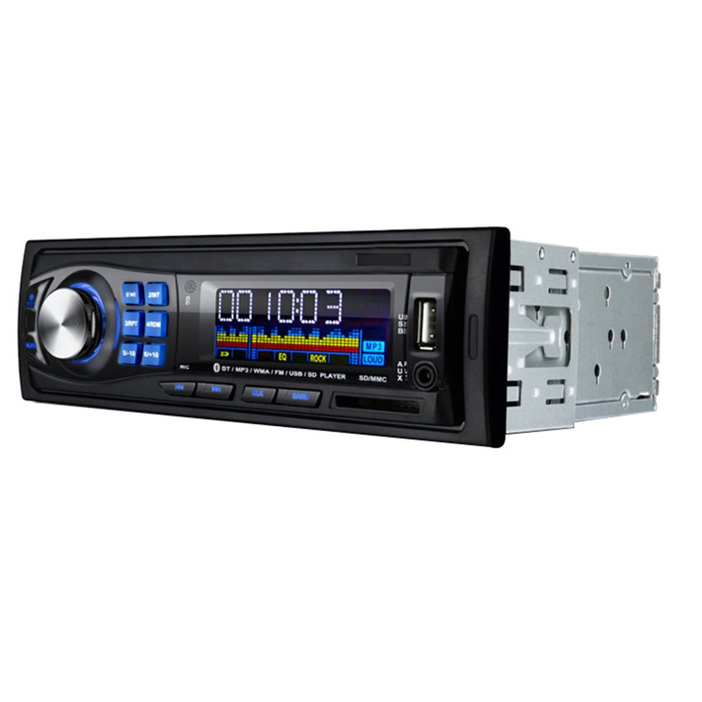 Amazon.com: Masione Bluetooth Car Stereo Audio Receiver, Single Din, in  Dash 12V, MP3 Radio Player Compatible, Digital Media, FM Receiver with USB  Port & SD ...