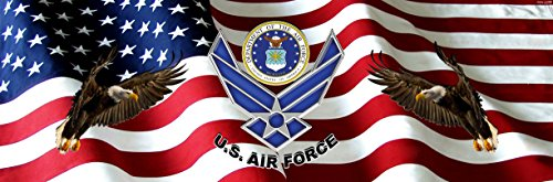 Air Force American Flag Eagle Full Size Rear Truck Window (See Through Rear Window Graphics)