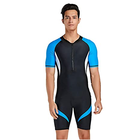 225414ad1420 Amazon.com: Kelly Bro Mens Premium Wetsuit, UV Protection Short Sleeve One  Piece Surf Suit for Diving Snorkeling Surfing Kayaking Canoeing: Clothing
