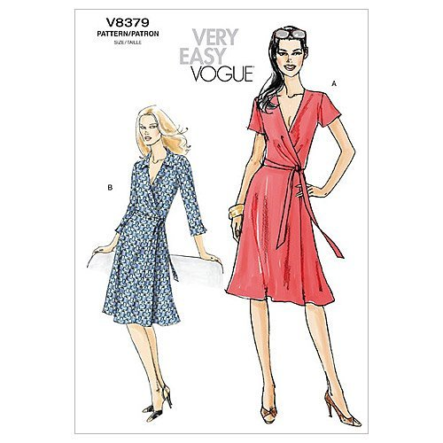 (Vogue Patterns V8379 Misses' Dress, Size BB (8-10-12-14))