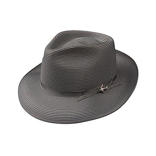 Stetson Stratoliner Milan Straw Hat - Grey - 6 7/8