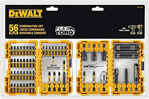 DEWALT FlexTorq 56-Piece Phillips/Square/Torx Impact Driver Bit Set - - Amazon.com