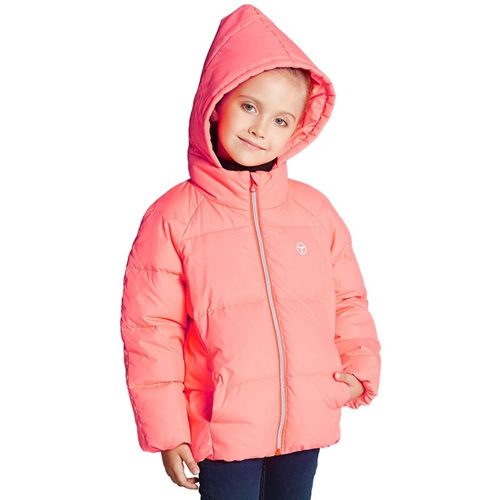 rose 160cm YZ-HODC Le Manteau Court de Filles d'enfants vers Le Bas de Veste Douce Douce de Style Canard vers Le Bas remplissant Outwear, Manteau d'hiver des Enfants idéaux pour Chaud