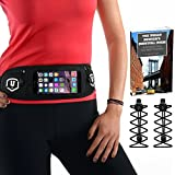 Running Belt - Complete Bundle - Pouch Running Belt Iphone 7 Plus for Men and Women - Locking Laces...