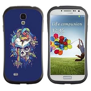 Suave TPU GEL Carcasa Funda Silicona Blando Estuche Caso de protección (para) Samsung Galaxy S4 I9500 / CECELL Phone case / / Purple Skull Snake Rainbow Colors /