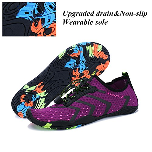 Purple Shoes Dry Swim Womens Walking Mens Pool Beach Bling Bo Diving Water Barefoot Yoga Breathable for Quick wAxSaTRq