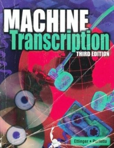 Machine Transcription: Applied Language Skills: Text with Dictations Disc ebook