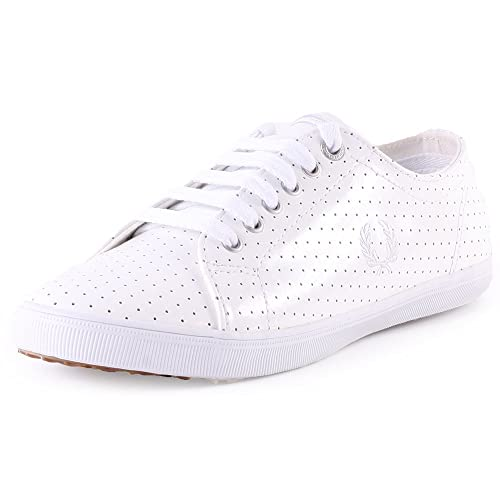 Fred Perry - Kingston pérfidos Leather - B7409W - zapatillas para mujer blanco (White 100), color blanco, talla 41: Amazon.es: Zapatos y complementos