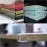 Mebbay 6 Pack Clear Acrylic Shelf Dividers for