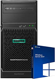 HP ProLiant ML30 Gen10 Tower Server Bundle with Intel Xeon E-2136, 32GB DDR4, 8TB SSD, Windows Server 2019 Standard