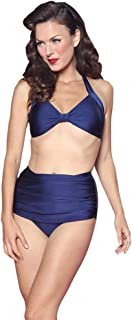 product image for Esther Williams Retro Skirted Solid Two-Piece Bikini Bottom, E09001P, Navy, 10