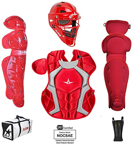 All-Star Youth Players Series Catcher Kit Ages 9-12 Scarlet