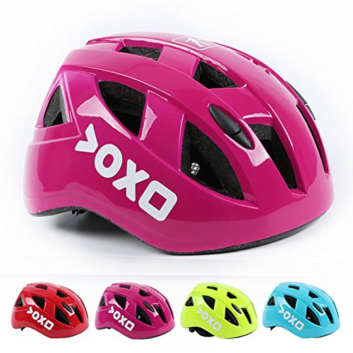 Kolodo Kids/Teenager Roller Skating Bicycle Helmet Family Cycling Safety Breathable Bike Helmet Adjustable Children Safety Protection for Girls And Boys By Pink, M(20.4″-22″ head girth)