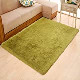 WAN SAN QIAN- Children Bedroom Carpet Living Room Carpet Sofa Europe Princess Rectangle Thicker Rug Rug ( Color : Green , Size : 140X200CM )