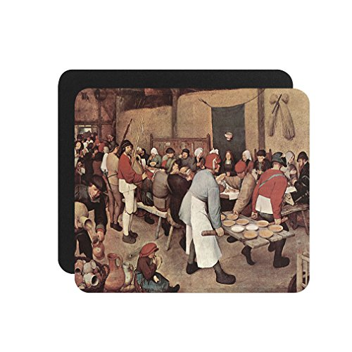 Country Wedding (Bruegel) Computer Laptop Mouse Pad - Country Style Computer
