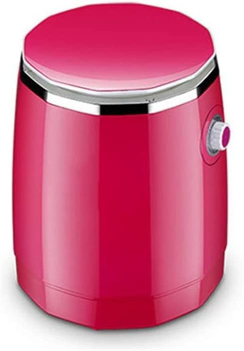 洗濯機 ミニ子供の脱水機、半自動単気筒緑の家庭用洗濯及び浸出 軽量でポータブル(Color : Pink)