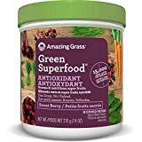 Amazing Grass Green Superfood Antioxidant Organic Powder with Greens & Acai, Flavor: Sweet Berry 30 Servings, 8.5 Ounces