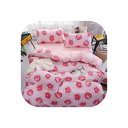Comforter Sets King Twin Bedding Set for Girl Kid Teen Cactus Duvet Quilt Comforter Cover Pillowcase Sheet Bed Linen 4Pcs,18,King