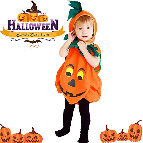 Halloween Baby Pumpkin Costume (L, Orange) ()