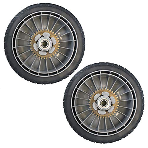 (Honda 42710-VE2-M02ZE (Replaces 42710-VE2-M01ZE) Lawn Mower Rear Wheel Set of 2)