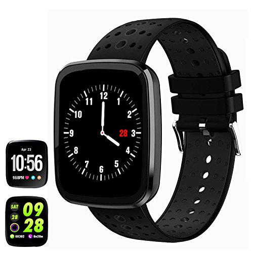 feifuns Fitness Tracker Watch, 1.3″ Color Touchscreen with Heart Rate Watch Blood Pressure Monitor, IP67 Waterproof, Step Counter Watch, Pedometer, Sleep Monitor, Smart Watch for Women Men Kids Review