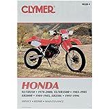 Clymer Repair Manual for Honda XL XR 200 250 350 78-00
