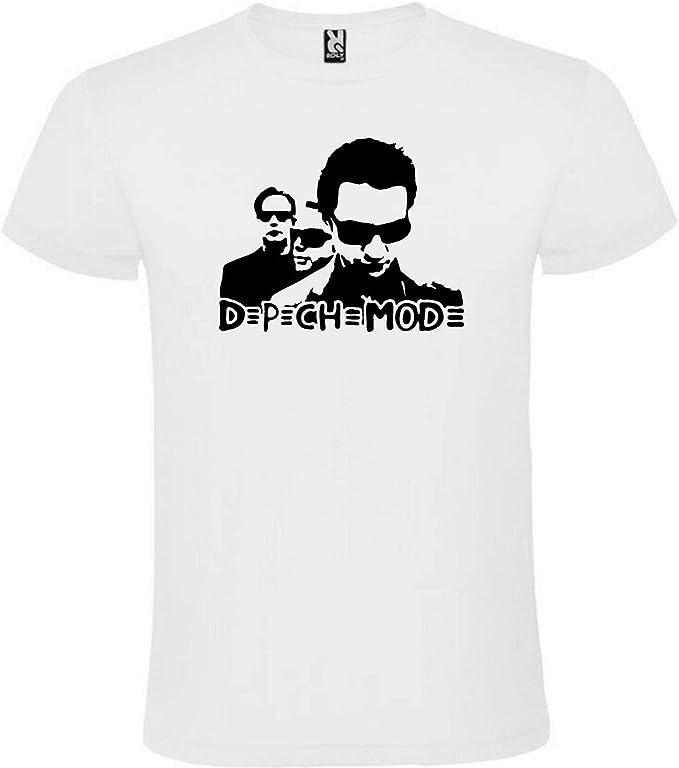 Camiseta Blanca Depeche Mode Hombre Tallas S M L XL XXL XXXL 100 ...
