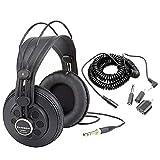 Samson SR850 Studio Reference Headphones + Headphone Extension Cord with Adapters