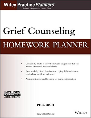 Grief Counseling Homework Planner, (with Download) (PracticePlanners) by Wiley