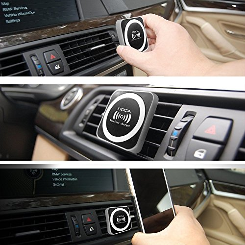 Magnetic Wireless Car Charger, DOCA Magnet QI Wireless Car Charger Mount Holder with Air Vent for iPhone X iPhone 8/8 Plus Galaxy Note 8 S8/S8 Plus S7 Edge and Any QI Enabled Phones by DOCA (Image #7)